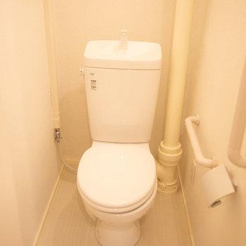 トイレもシンプルでした。
