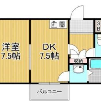 コーナーに家具を配置しやすい間取り ※間取りは現状優先となります。