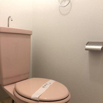 いちごチョコのトイレ