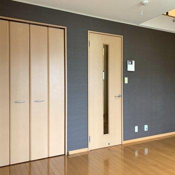 右は廊下への扉、左側は収納です
