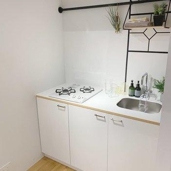 【イメージ】キッチンは使いやすい2口コンロ!