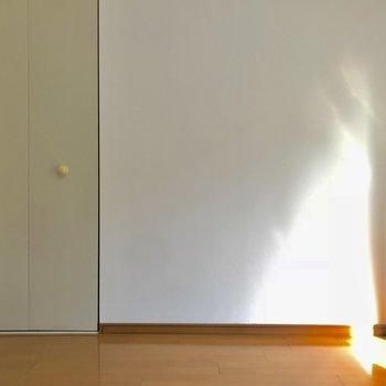 クローゼットはアイボリーでナチュラルな雰囲気。(※写真は2階の同間取り別部屋のものです)
