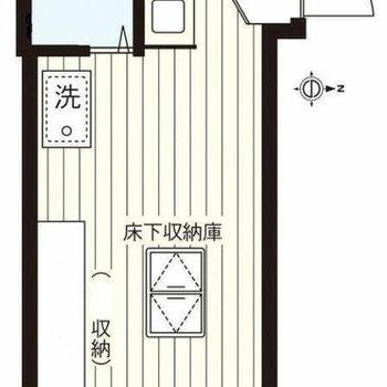 床下収納庫があります。