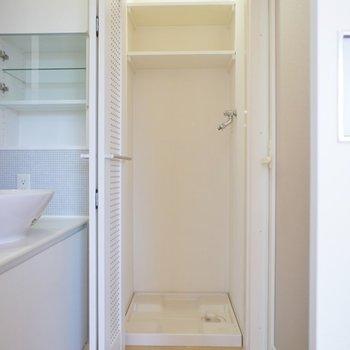 洗濯機はこちらへ。。※写真は同タイプの別室。