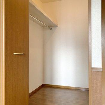 【洋室9.25帖WIC】さきほどの洋室と同じくらいの容量のウォークインクローゼット。
