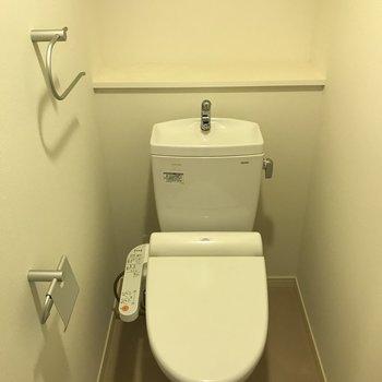 トイレはウォシュレット付き◎(※写真は8階の同間取り別部屋のものです)