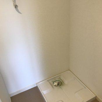 洗濯機は脱衣所に(※写真は8階の同間取り別部屋のものです)