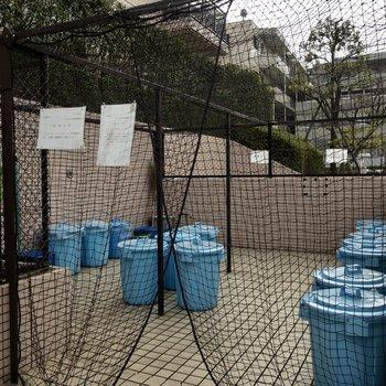 ゴミ置き場は敷地内に。