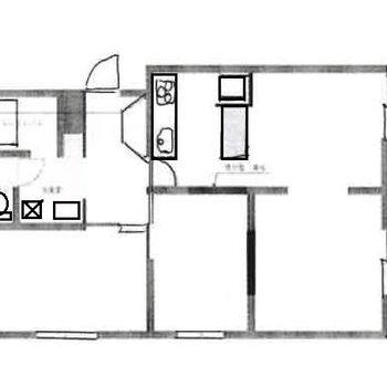 1LDK+納戸の角部屋です!