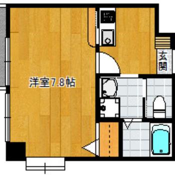横長の角部屋のキッチン広めのお部屋。これだけで、好き♡