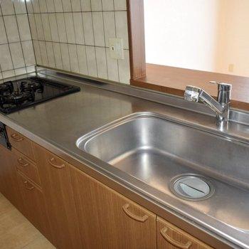 洗面器も、大きい!