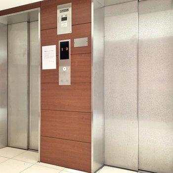 戸数が多めなのでエレベーターも2台備わっています。