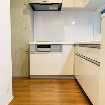 広々としているキッチンスペース。