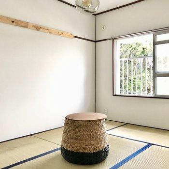 和室にもリビングと長押しがありました。和室に似合う絵を飾りたいな◎