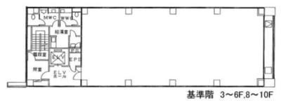 渋谷 57坪 オフィス の間取り