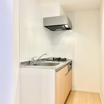 シンク左横に冷蔵庫スペース。