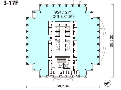恵比寿 228.38坪 オフィス の間取り