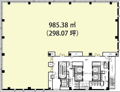 渋谷 298坪 オフィス の間取り