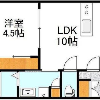 まだまだ新しいお部屋です。間取りも使い勝手がいい! ※画像は反転間取りです。