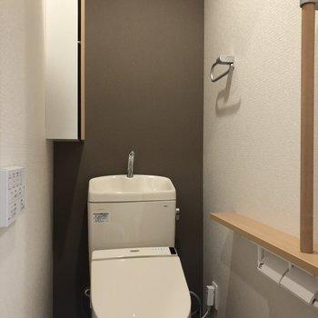 冬もあったかいトイレ♪の…※写真は9階の反転間取り別部屋のものです。