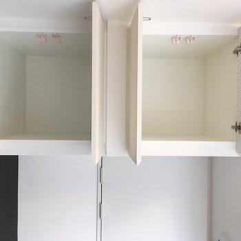 居室ドア上部に天袋もついてます。※写真は3階の同間取り別部屋のものです
