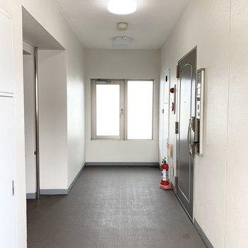 7階部分は合計2部屋なだからゆったりとした共用部。