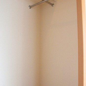 ウォークインクローゼット!この大きさは魅力的です。※写真は4階の反転間取り別部屋のものです