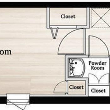 家具の配置がしやすそうな間取り。