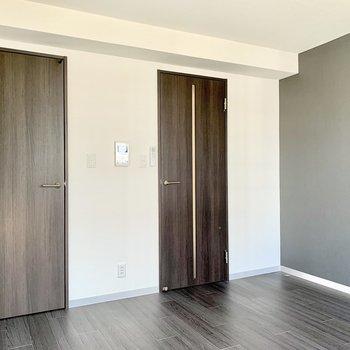 洋室と廊下は閉め切ることができますよ。
