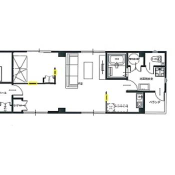 特に水回りのスペースがゆったりめ!お部屋の玄関へは螺旋階段を登っていきます。
