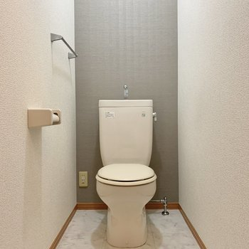 トイレはゆったりサイズ。