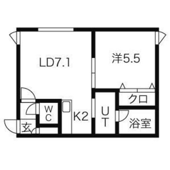 どちらのお部屋もほぼ正方形の間取り。広さを感じます〜