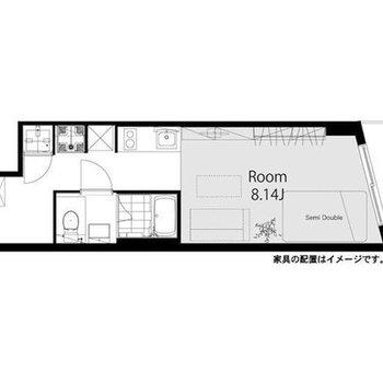 ゆったりとした1Rのお部屋です。