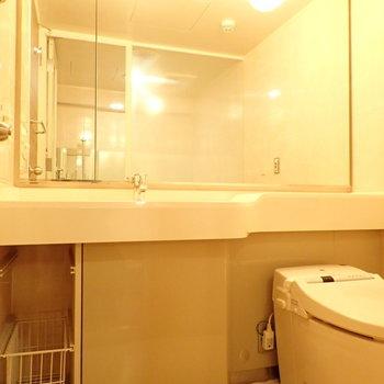 洗面台とトイレです。