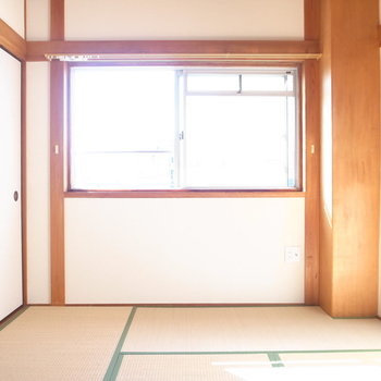 【6F/和室6帖】六畳一間!木と畳のあたたかみに落ち着きます。