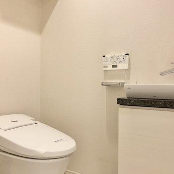 トイレには手洗い場があるので、清潔感も保てますね。