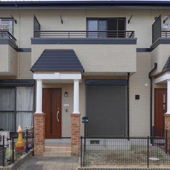 戸建てのような外観です。家族で住むのが楽しみになりますね!