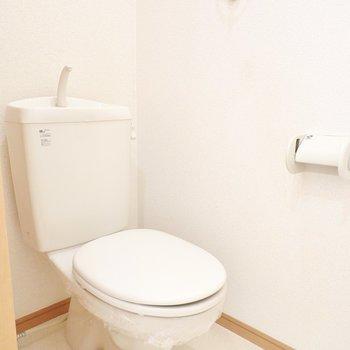シンプルなおトイレですが、しっかり清掃されていて清潔。