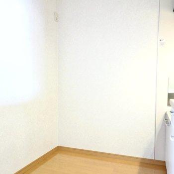 冷蔵庫などキッチン家電のためのスペースも背面側にしっかりあります。