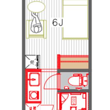 同間取り別部屋の図面です。※キッチンは1口IHになります。