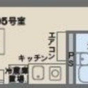 シンプルな1Rのお部屋。