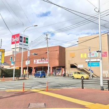 駅の近くには大型スーパーやコンビニがあります。