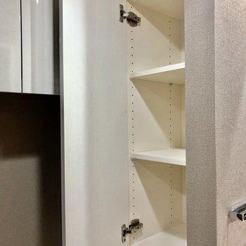 手が届きやすいこちらの収納には本など置いておいてもいいですね※写真は5階の同間取り別部屋のものです