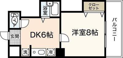 広島畳材6ビル の間取り