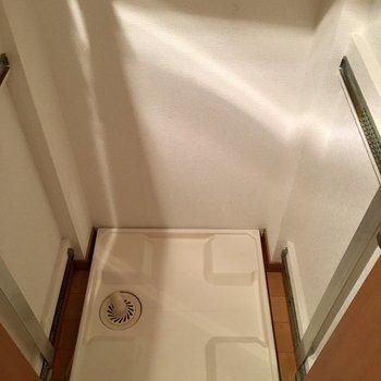 洗濯機置場も室内に(※写真は9階の同間取り別部屋のものです)