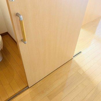 所々の扉が引き戸でした。家具の置き場にも困らなさそうです。(※写真はは同間取り反転のお部屋です。)