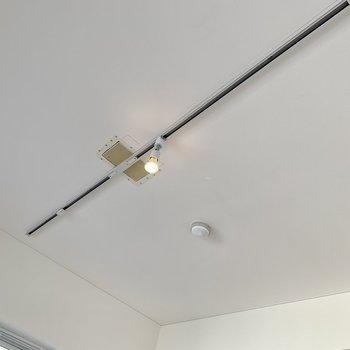 お部屋を照らすのはライティングレール。