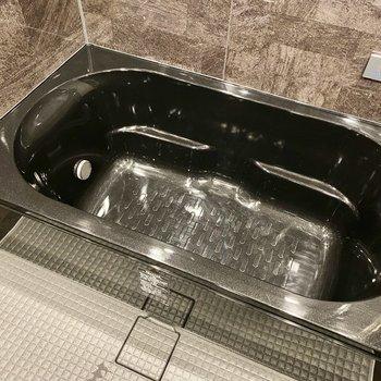 ゆったりとした浴槽。