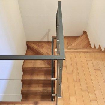 さぁ、階段降りて1階に行ってみましょう。
