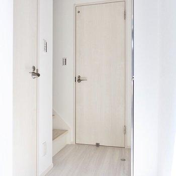 ドア側から見た玄関。
